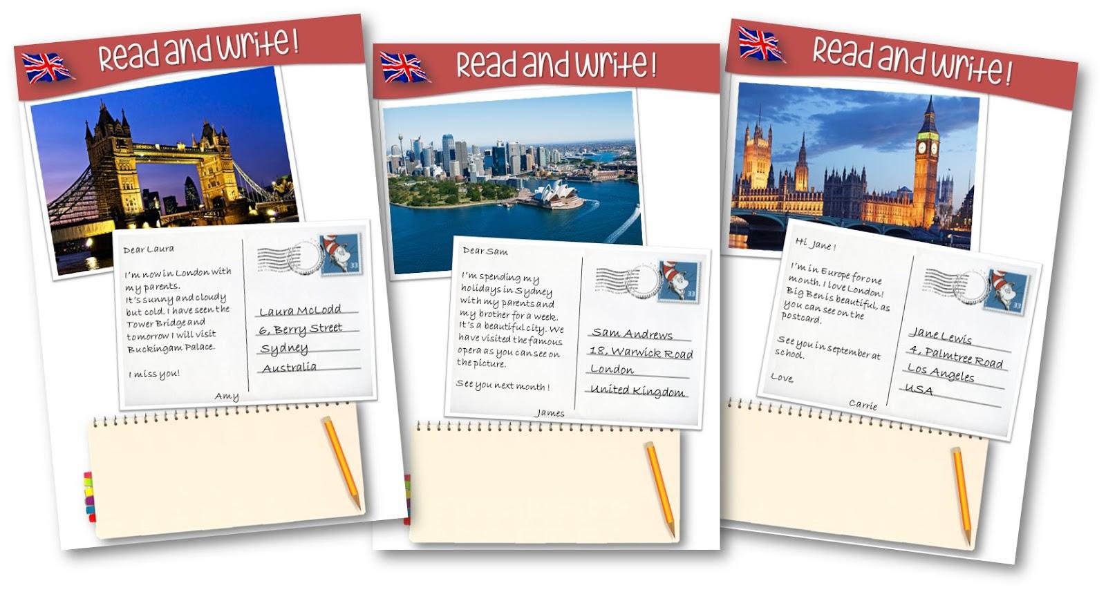Teacher Charlotte Des Cartes Postales De Pays Anglophones Pour Lire