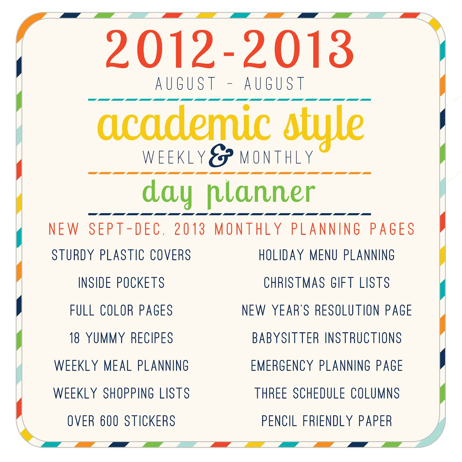 Picket Fence Publications: 2012-2013 Home Executive Day