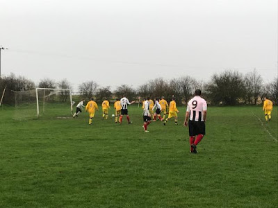 Picture: Action from the cup semi-final between Barnetby United Football Club and College Wanderers on December 8, 2018 - see Nigel Fisher's Brigg Blog