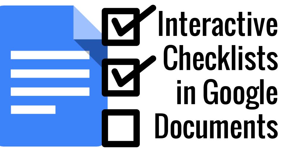 Control Alt Achieve: Interactive Checklists in Google Docs