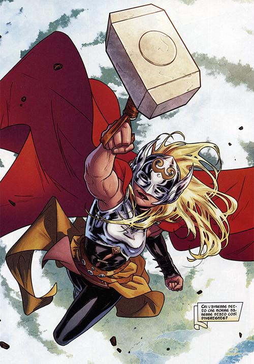 Jane Foster como Thor. (Fonte: Marvel Comics)