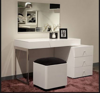 modern white dressing tables for bedroom minimalist interiors 2018