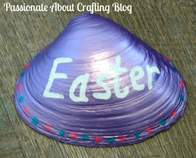 Kid's Crafts - Painted Easter Design Seashell