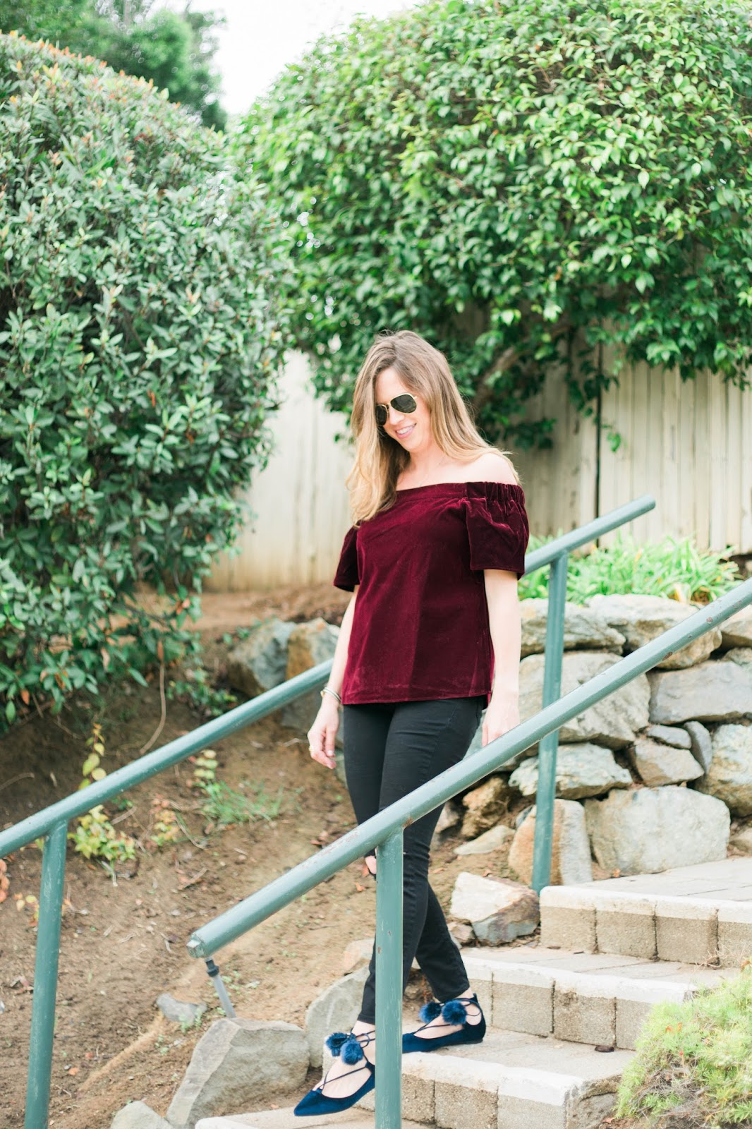 velvet off the shoulder top