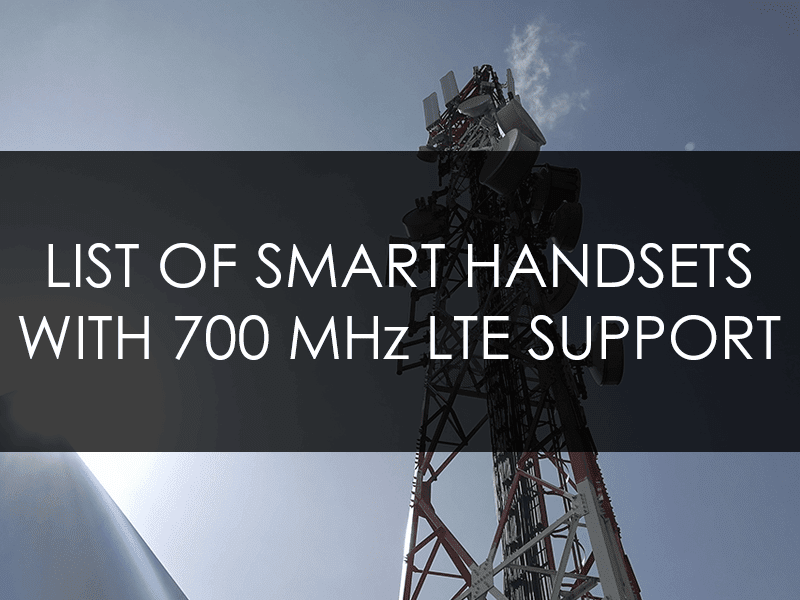 Smartphones from Smart with 700 MHz LTE support