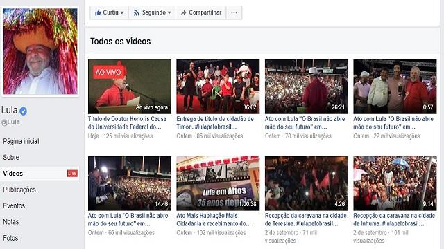 videos lula facebook