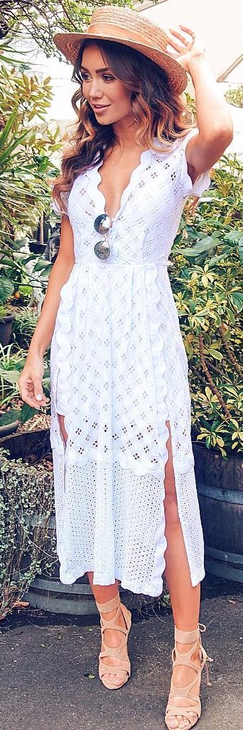 white lace dress could be perfect for the office