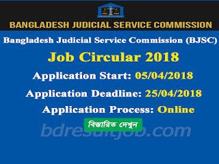 12th BJSC Assistant Judge Recruitment Exam Circular 2018