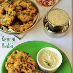 Keerai Vadai Recipe | Keerai Vadai with Urad Dal | Spinach Vadai | Diwali Special Snack | Chef Venkatesh Bhat Recipes - Recipe #14