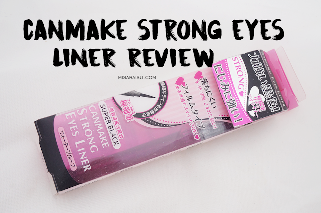 canmake eyeliner strong black review felt tip