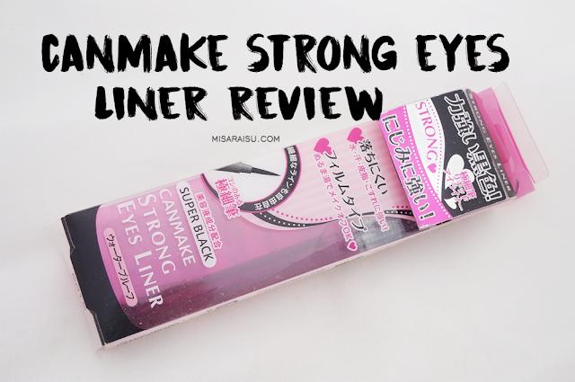 canmake eyeliner strong black review felt tip