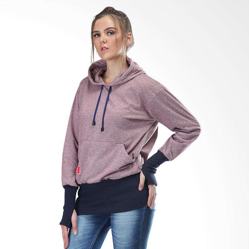 Kuzatura KSD 159 Jacket Hoodies Sweater Kasual Wanita - Pink