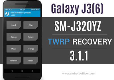 TWRP Recovery for Galaxy J3 2016 SM-J320YZ