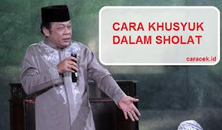 Download MP3 Ceramah Zainuddin MZ Cara Khusyuk Dalam Sholat