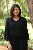 Actress Hebah Patel Stills in Black Mini Dress at Angel Movie Teaser Launch  0122.JPG