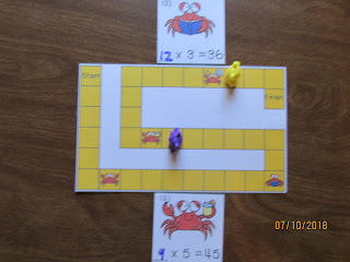 Summer Crabs Multiplication Missing Number Equations Task Cards