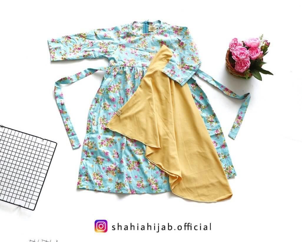Baju muslim anak motif bunga