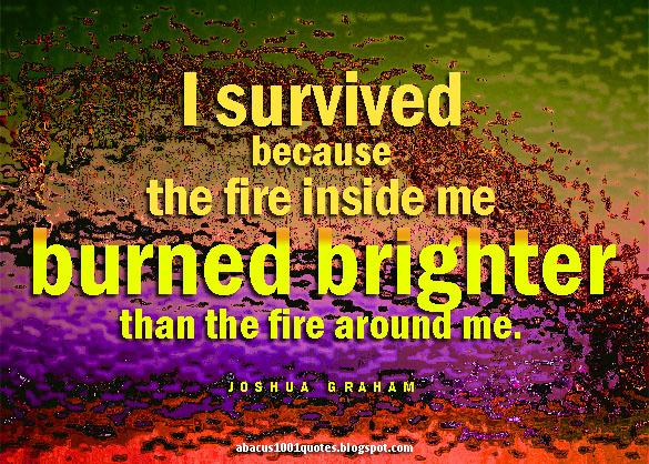 Joshua Graham's Fire Quote