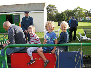 a ride on the miniature trains
