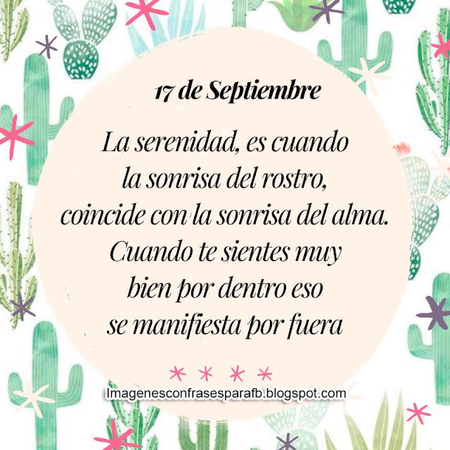 Frase del Día 17 de Septiembre