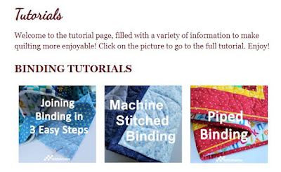 tutorials page at QuiltFabrication