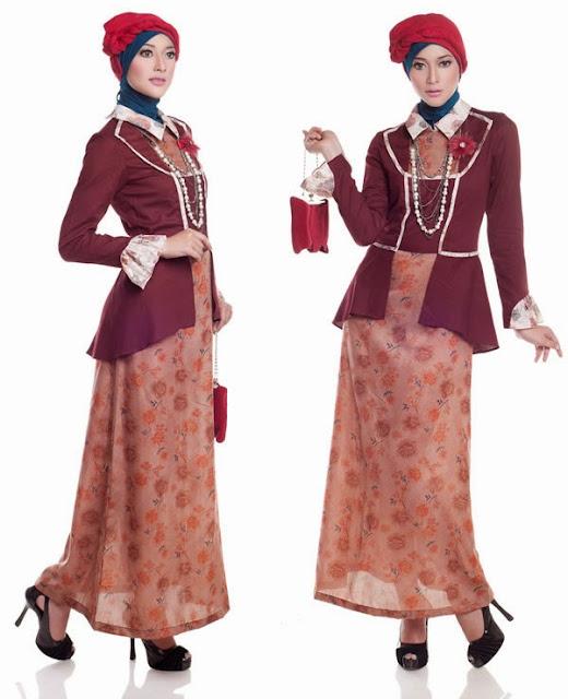 Contoh Baju Muslim Pesta Modern wanita