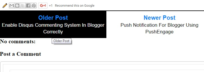 Blogger Older Newer Posts Button With Post Title