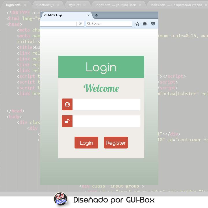 Plantilla de login web con animaciones (css, html y jquery) | GUI ...