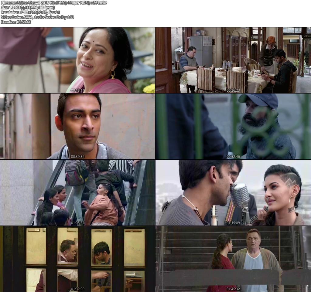 Rajma Chawal 2018 Hindi 720p Proper HDRip x264 Screenshot