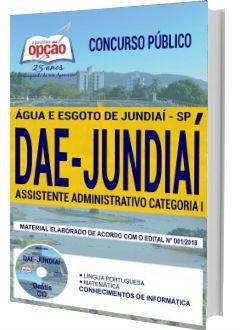 Apostila Concurso DAE Jundiaí 2018 Assistente Administrativo Categoria I
