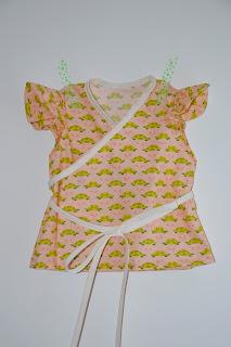wikkelbloes, blouse, soft cactus, naaien voor kinderen,