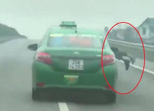 Phạm Huy Đoàn hết cảnh sát lên nắp capo rồi phóng với tốc độ cao