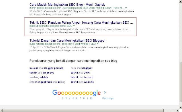 memenangkan persaingan di SERP Google/Bing