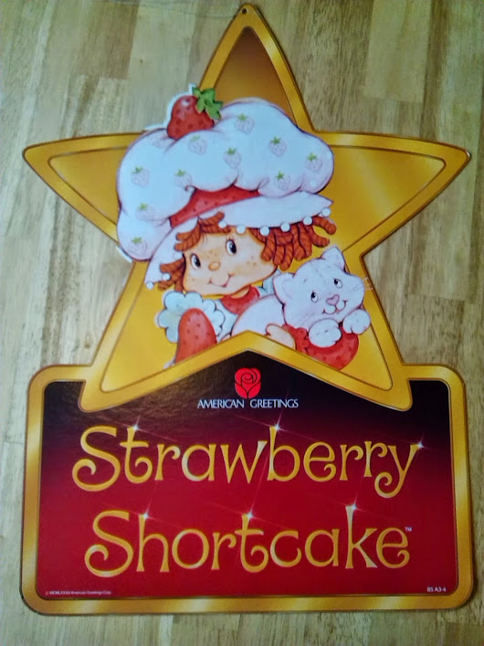 1982 American Greetings POS Advertising Strawberry Shortcake, Holly Hobbie and Ziggy