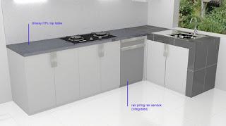 Lemari Dapur Dengan Anti Rayap Semarang