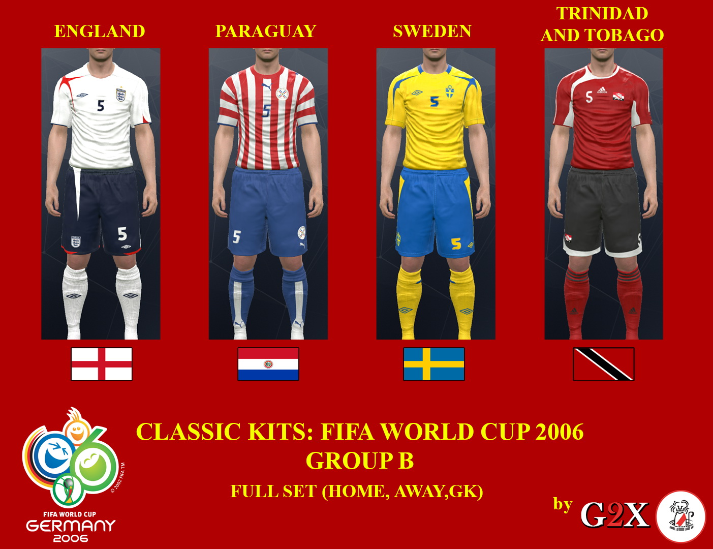 PES 2017 FIFA World Cup 2006 Group B Kits by G2X