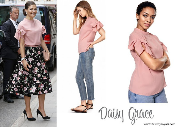 Crown Princess Victoria wore DAISY GRACE Pink Top