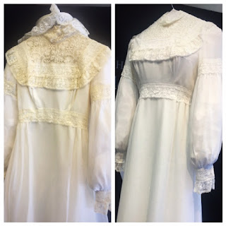 Mrs. Rehder's Dress before and after