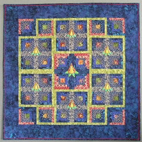 Patti's Log Cabin Garden quilt photo