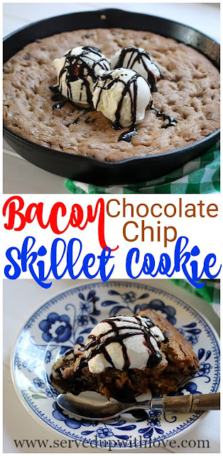 bacon-chocolate-chip-skillet-cookie