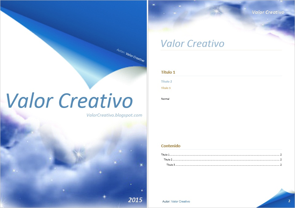 Valor Creativo Plantilla Word - Junio 2015