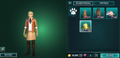 Harry Potter, Hogwarts Mystery, Pets Cost, Companion Benefits