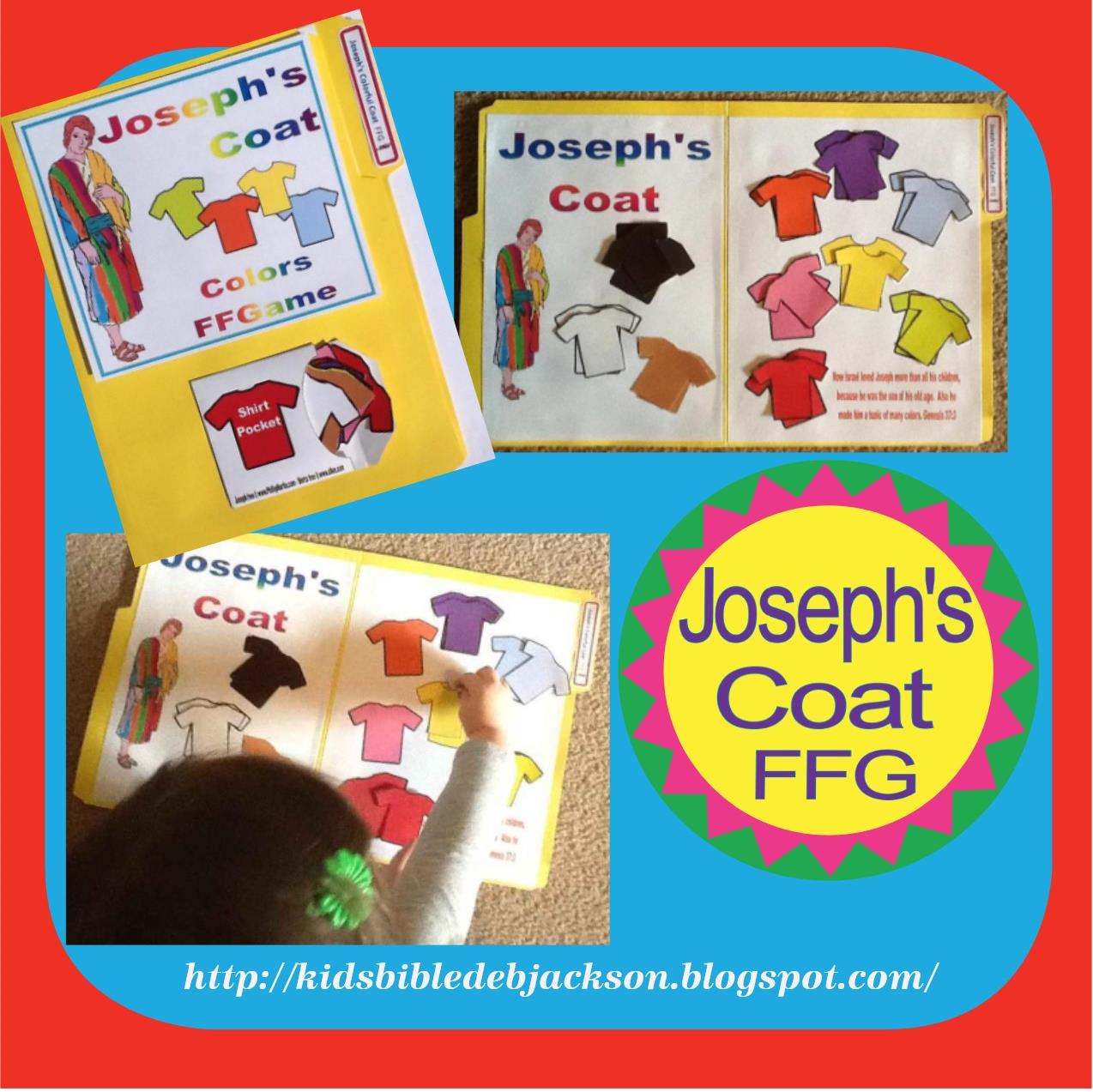 Bible Fun For Kids Joseph S Colorful Coat File Folder Game