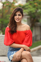 Rhea Chakraborty in Red Crop Top and Denim Shorts Spicy Pics ~  Exclusive 006.JPG