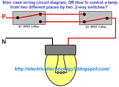 stair case wiring circuit diagram panel switch wiring. Black Bedroom Furniture Sets. Home Design Ideas