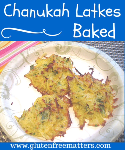 Baked potato latkes on a plate