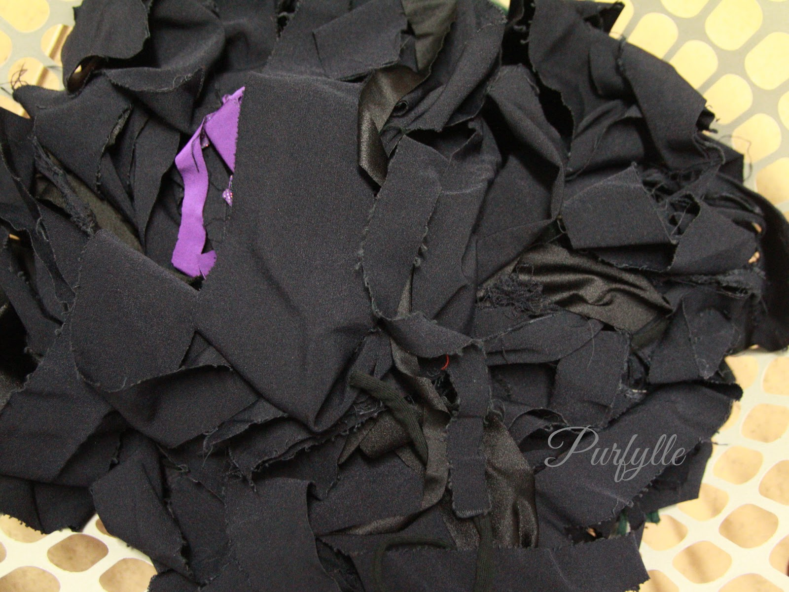 discard small fabric scraps