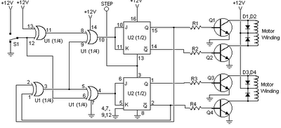 Stepper Motor Controller using IC 4027
