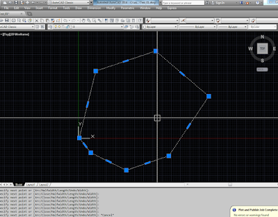 Menggunakan Autocad LISP PolyLine to dblisting Panel PDMS