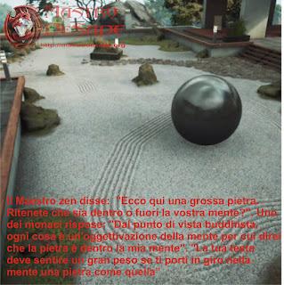 Ecco qui una grossa pietra. Ritenete che sia dentro o fuori la vostra mente?